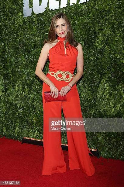 Glamour Mexico magazine editorial director Lucy Lara attends the 'Hot Pursuit' Mexico City Premiere red carpet at Cinepolis Plaza Carso on June 22...