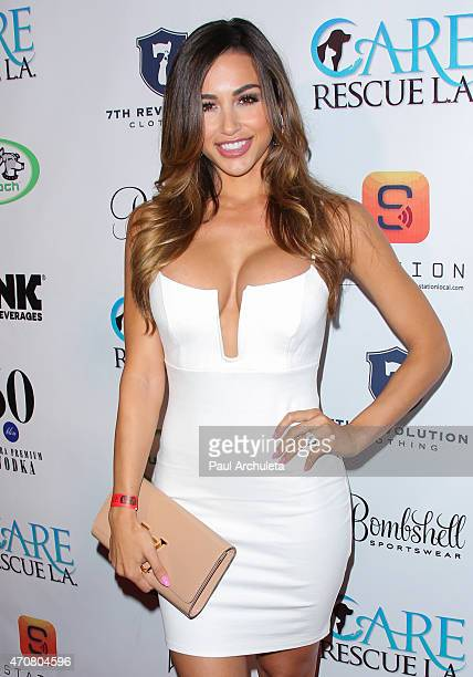 Glamour Model Ana Cheri attends the Babes In Toyland charity toy drive at Boulevard3 on April 22 2015 in Hollywood California