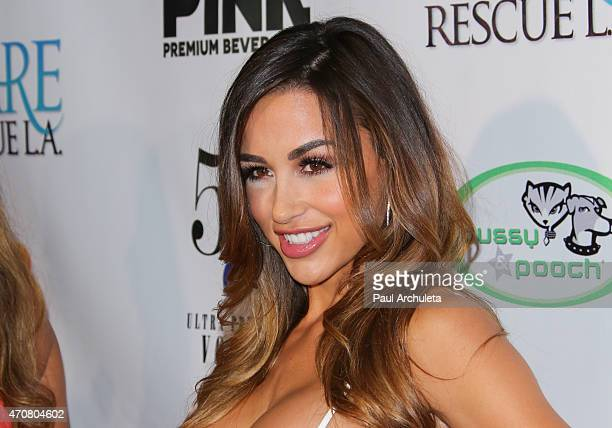"Glamour Model Ana Cheri attends the ""Babes In Toyland"" charity toy drive at Boulevard3 on April 22, 2015 in Hollywood, California."