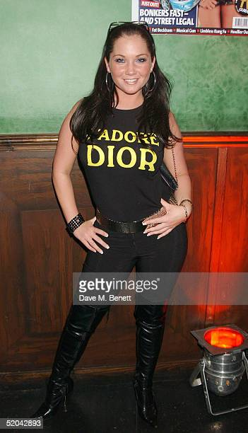 A Glamour model attends the 1st Birthday party for Nuts Magazine at Trap Wardour Street on January 20 2005 in London