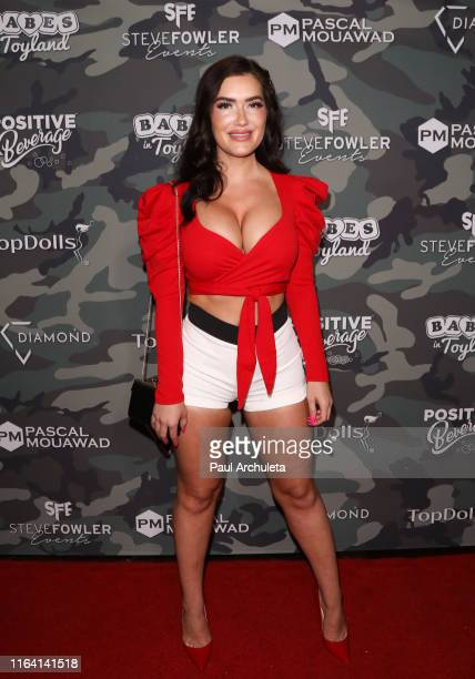 Glamour Model CJ Sparxx attends the 4th Annual Babes In Toyland Support Our Troops charity event at The Academy LA on July 24 2019 in Los Angeles...