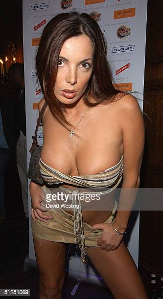 Glamour model Coralee arrives at the Big Brother V Reunion Party thrown by housemate Emma Greenwood at Cafe de Paris on August 31 2004 in London The...