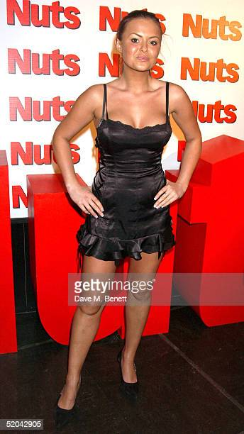 Glamour model Ebony attends the 1st Birthday party for Nuts Magazine at Trap Wardour Street on January 20 2005 in London