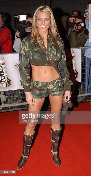 Glamour model Jordan at the Top of the Pops Awards November 29 2002 held at the Manchester Evening News Arena Manchester England