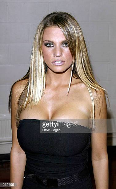 Glamour model Jordan attends the 7th annual MOBO awards held at London Arena London on October 1 2002