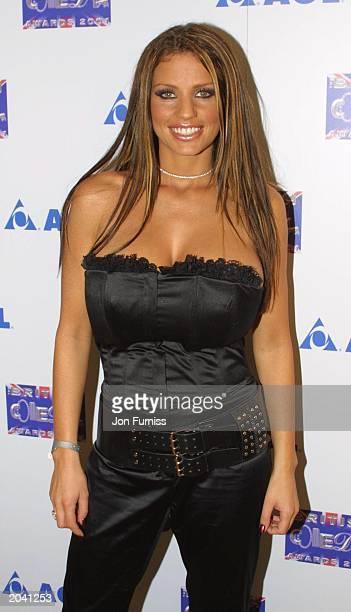 Glamour model Jordan attends the British Comedy Awards at LWT Studios on December 15 in London England Jordan presented the award for Best...