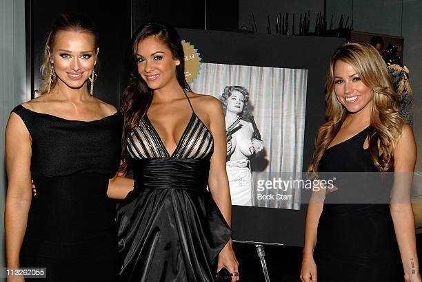 Glamour model Katerina Vanderham Playboy model Bambi Lashell and TV personality Playboy radio host Jessica Hall arrive at the Taschen and Playboy...