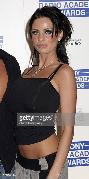 Glamour model Katie Price aka Jordan arrives at the Sony Radio Academy Awards 2006 at Grosvenor House Hotel on May 8 2006 in London England
