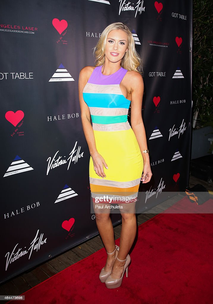 Glamour Model Kayla Rae Reid attends Victoria Fuller's 'The Beauty Code: Art Show' at The Redbury Hotel on February 25, 2015 in Hollywood, California.