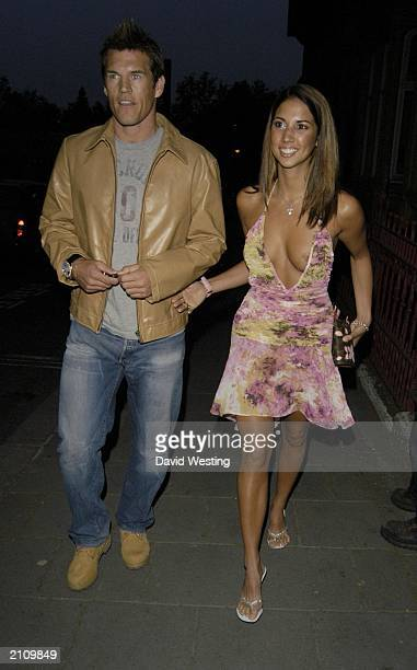 Glamour model Leilani and boyfriend Wimbledon defender Mark Williams arrive at the FHM 100 Sexiest Woman in the World 2003 Party in Aldwych London on...
