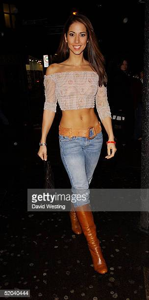 Glamour model Leilani Dowding attends the 1st Birthday party for Nuts Magazine on January 20 2005 at Trap Nightclub in Wardour Street London
