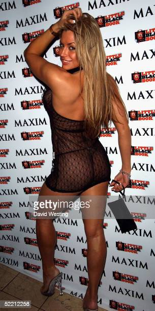 Glamour Model Louise Glover attends the Maxim's Little Black Book Party celebrating the second annual magazine's supplement featuring the UK's...