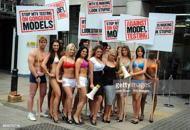 Glamour model Lucy Pinder and FHM High Street Honey winner Kayleigh Pearson team up with other models to promote the launch of MTV One's new show...