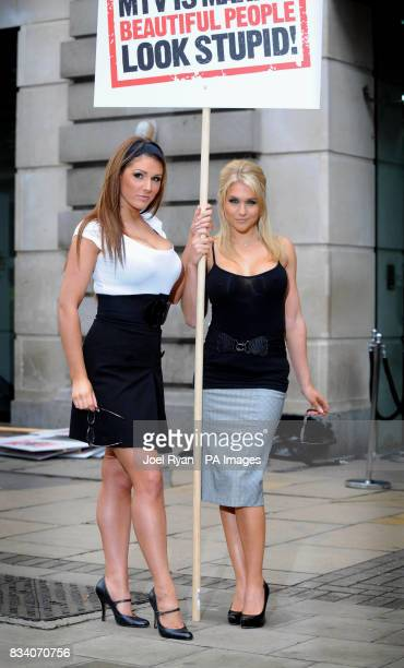 Glamour model Lucy Pinder and FHM High Street Honey winner Kayleigh Pearson attend a photocall to promote MTV One's launch of their new show...