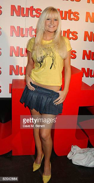 Glamour model Michelle Marsh attends the 1st Birthday party for Nuts Magazine at Trap Wardour Street on January 20 2005 in London