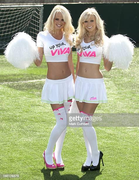 Glamour Model Rhian Sugden And Big Brother Winner Sophie Reade Launch Binocular Football In London