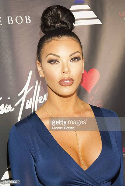 Glamour Model Vivian Kindle attends Caroline Burt DJs At Victoria Fuller's The Beauty Code Art Show at The Redbury Hotel on February 25 2015 in...