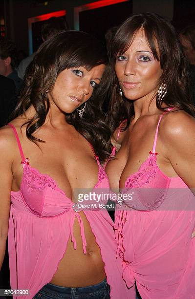 Glamour models attend the 1st Birthday party for Nuts Magazine at Trap Wardour Street on January 20 2005 in London