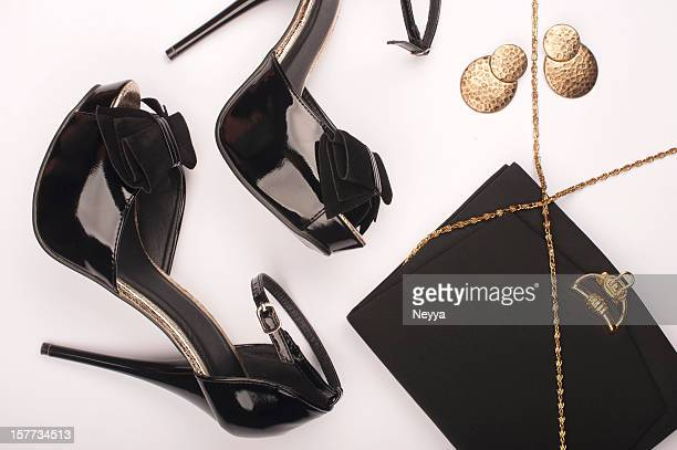 glamour - gold shoe stock pictures, royalty-free photos & images