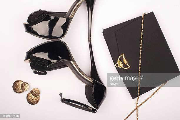 glamour - gold purse stock pictures, royalty-free photos & images