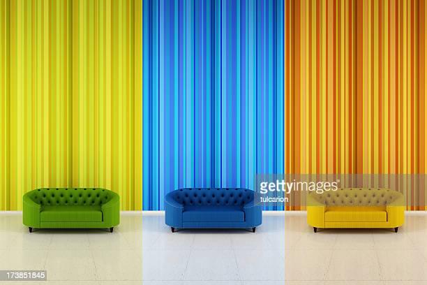 豪華なレトロなスタイルのソファー