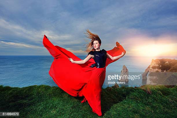glamour femme dans la nature