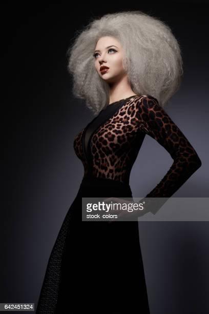 glamour woman in studio