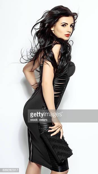 glamourous woman - dokterstas stockfoto's en -beelden
