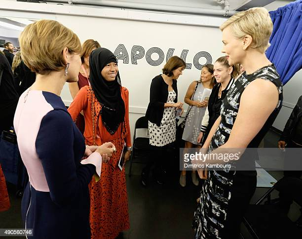 Glamour's EditorinChief Cindi Leive Girl ambassador from Plan International Nurfahada Founder of Charlize Theron Africa Outreach Project and UN...