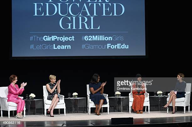 Glamour's EditorinChief Cindi Leive led a panel discussion with Founder of Charlize Theron Africa Outreach Project and UN Messenger of Peace Charlize...