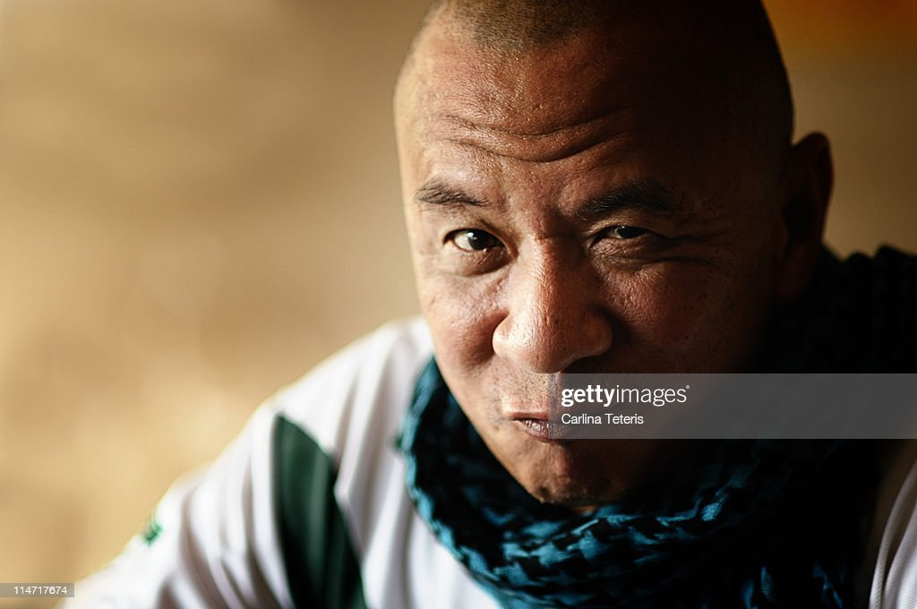 Glaring Bald Man High-Res Stock Photo - Getty Images