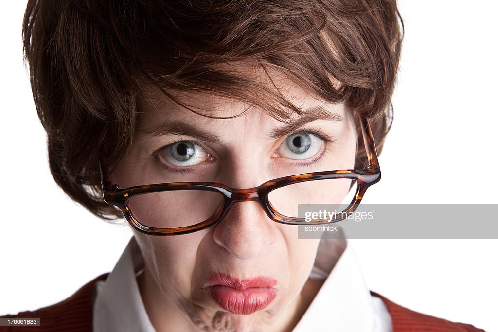 Glaring Teacher High-Res Stock Photo - Getty Images