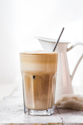 Glas of Cafe Frappe - gettyimageskorea