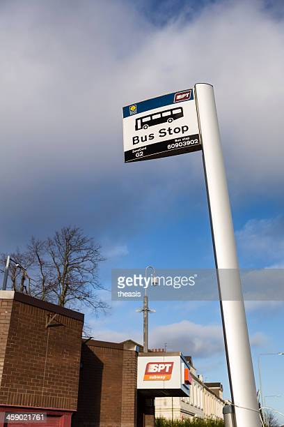 glasgow bus stop and subway - theasis stock pictures, royalty-free photos & images