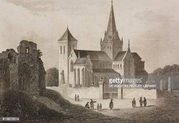 Glasgow Cathedral Scotland United Kingdom engraving by Schroeder from Angleterre Ecosse et Irlande Volume IV by Leon Galibert and Clement Pelle...