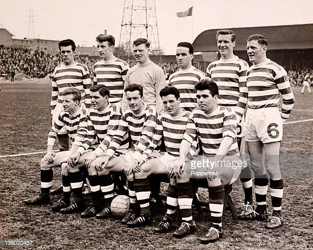 Glasgow Celtic Football Club on 18th April 1964 Back row left to right Ian Young Tommy Gemmell John Fallon John Clark Billy McNeill and Jim Kennedy...