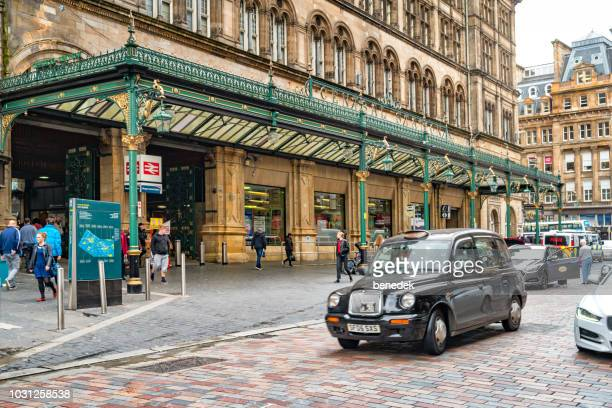 glasgow central station in scotland uk - old glasgow stock photos and pictures