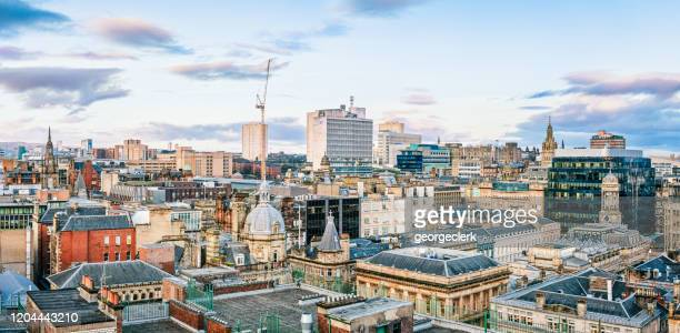 glasgow city centre skyline - downtown stock pictures, royalty-free photos & images