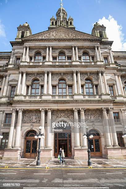 glasgow city chambers - theasis stock pictures, royalty-free photos & images