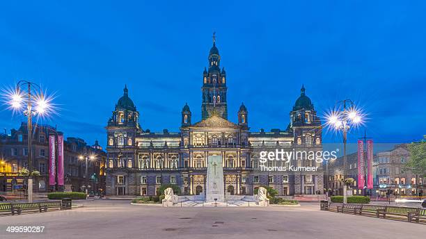 glasgow city chambers - george square stock photos and pictures