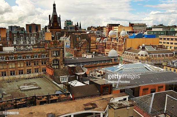 glasgow cityscape - glasgow stock pictures, royalty-free photos & images