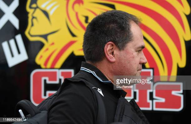 Glasgow coach Dave Rennie arrives at the stadium before the Heineken Champions Cup Round 2 match between Exeter Chiefs and Glasgow Warriors at Sandy...
