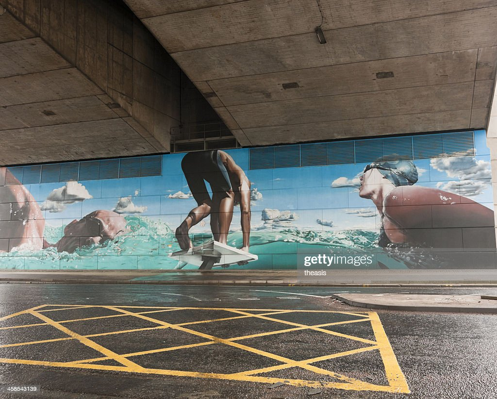 Glasgow Commonwealth Games Mural : Stock Photo