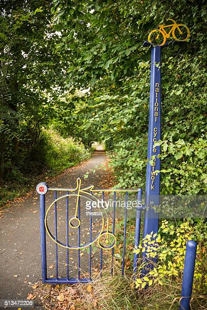 glasgow cycle path - theasis stock pictures, royalty-free photos & images