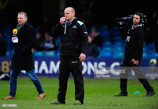 Glasgow head coach Gregor Townsend looks on before the European Rugby Champions Cup match between Bath Rugby and Glasgow Warriors at Recreation...