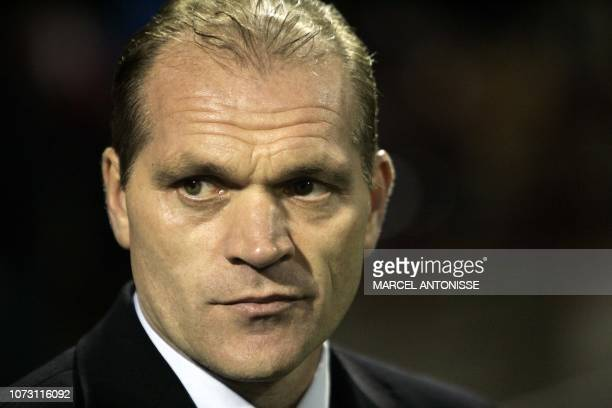 Glasgow Rangers coach Jan Wouters appears during the UEFA CUP Group F match AZ against Glasgow Rangers in Alkmaar 02 December 2004
