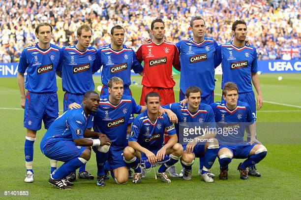 Glasgow Rangers team group before the UEFA Cup Final between Zenit St Petersburg and Glasgow Rangers held in Manchester England on 14th May 2008 Back...