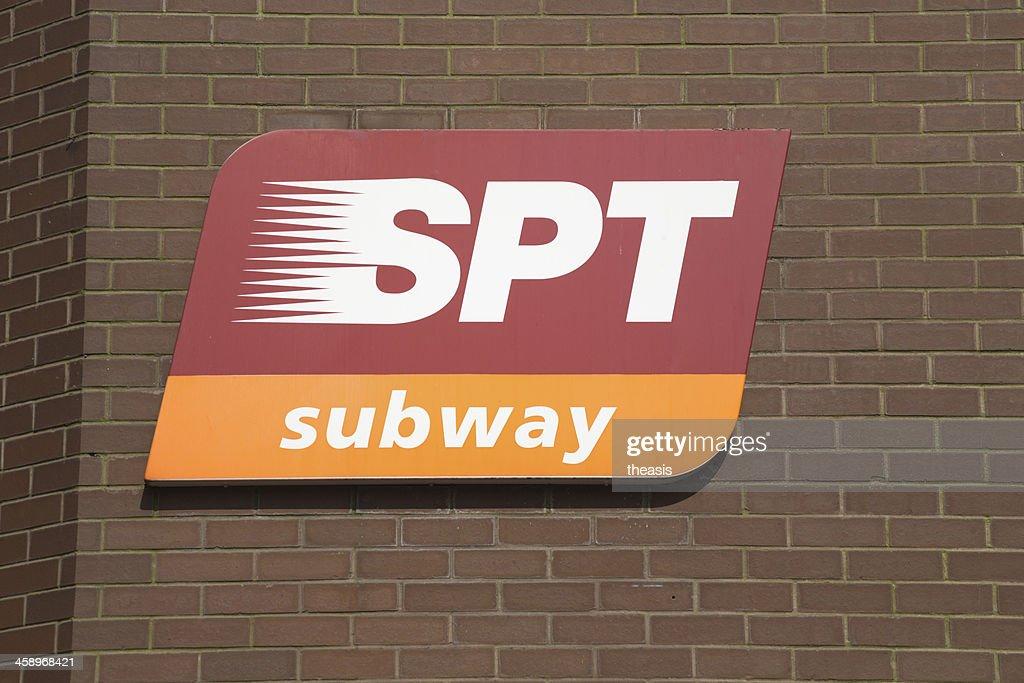 Glasgow Subway Sign : Stock Photo