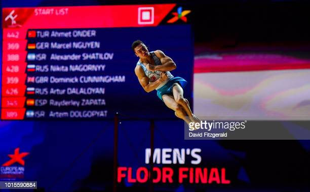 Glasgow United Kingdom 12 August 2018 Ahmet Onder of Turkey competing in the 'Floor Exercise' in the Senior Men's Gymnastics final during day eleven...