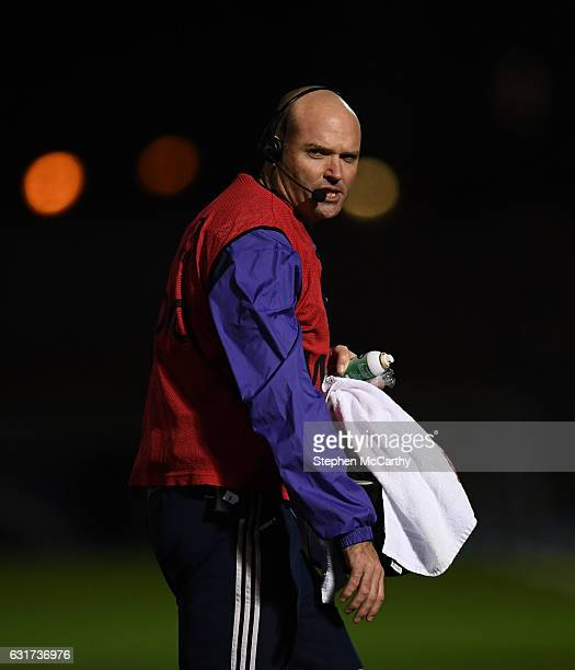 Glasgow United Kingdom 14 January 2017 Munster defence coach Jacques Nienaber during the European Rugby Champions Cup pool 1 round 5 match between...